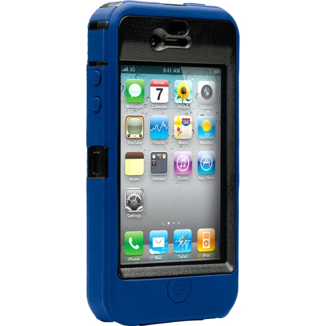 OtterBox APL2-I4UNI-46-E4OTRA Otterbox Defender APL2-I4UNI-46 Carrying Case (Holster) for iPhone - Zircon Blue